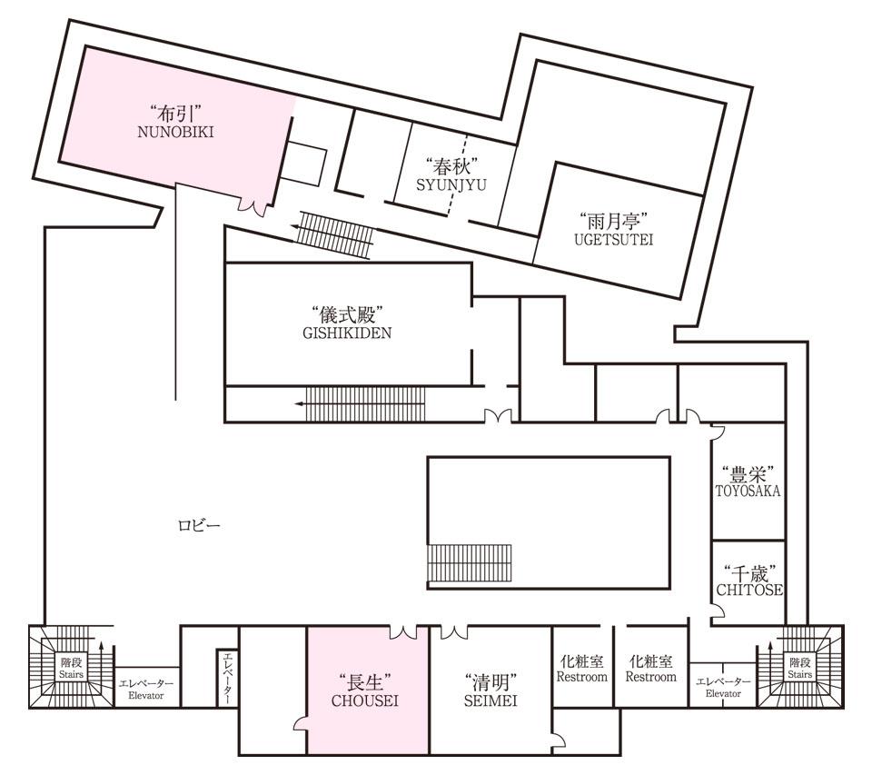 生田神社会館2階 平面図