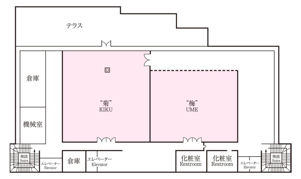 生田神社会館3階 平面図