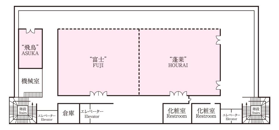 生田神社会館4階 平面図